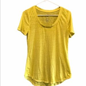 5/$20 Maurices 24/7 yellow tee size small